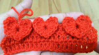 getlinkyoutube.com-How to crochet heart stitch? | !Crochet!