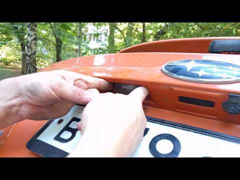 Как заменить лампу подсветки номера Subaru XV