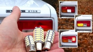 getlinkyoutube.com-ВАЗ 2105 - замена ламп P21W на светодиодные. Тест-сравнение
