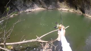 getlinkyoutube.com-渓流釣りで50センチが2連続ヒット!なお口にヒゲがある模様