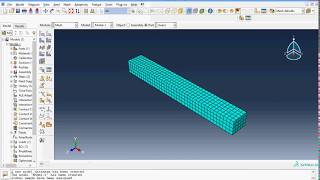 getlinkyoutube.com-Abaqus tutorial- Detail about creating and analyzing Cantilever Beam