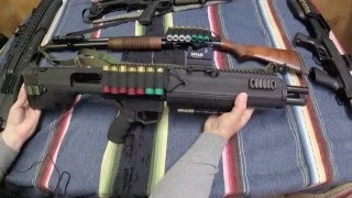 getlinkyoutube.com-Bullpup Unlimited Shotgun Mossberg 500/590 TableTop Review Bullpup Series