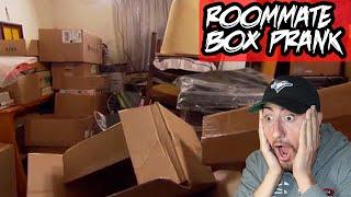 BOX PRANK ON ROOMMATE!! (REVENGE)