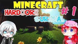 getlinkyoutube.com-Minecraft hardcore survival #1 เอาชีวิตรอดในคืนแรก