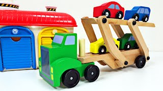getlinkyoutube.com-Big Rig Car Carrier Teaching Colors for Kids #1 Learning Colours Video for Children Organic Learning