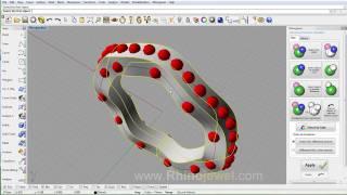 getlinkyoutube.com-Rhinojewel 5.0 - Interactive Array along Curve on Surface - Block