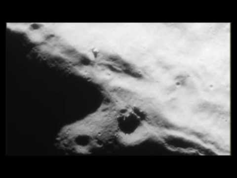 UFO hovering over Moons surface near building, Apollo 17 photo, UFO Sighting Daily News.