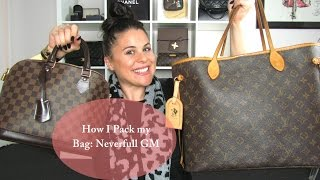 getlinkyoutube.com-How I pack my bag: Louis Vuitton Neverfull GM
