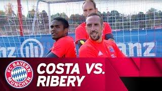 getlinkyoutube.com-Costa vs. Ribéry | Penalty-Challenge | Part 1