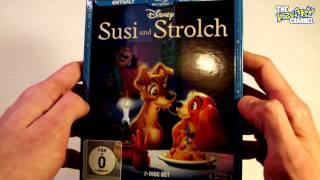 Susi Und Strolch Diamond Edition Blu Ray+DVD Review Unboxing, Lady And The Tramp