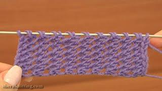 getlinkyoutube.com-Easy to Knit Mesh Stitch Pattern Tutorial 18 Beginner Level Knitted Mesh
