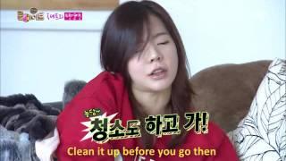 getlinkyoutube.com-Sunny and her maid, Taecyeon. Roommate, S2 EP19. 150210