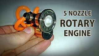 getlinkyoutube.com-5 Nozzle Rotary Prototype Engine Test