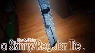 getlinkyoutube.com-How to Make a Skinny Tie and Regular Necktie | Easy DIY Sewing