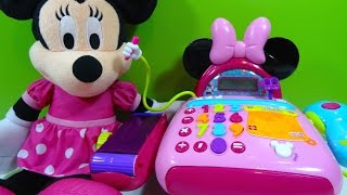 getlinkyoutube.com-Minnie Mouse Caja Registradora Electronic Cash Register - Juguetes de Minnie