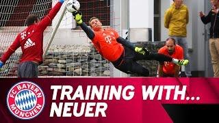 getlinkyoutube.com-Training with Manuel Neuer | FC Bayern