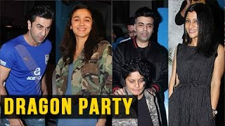 getlinkyoutube.com-VIDEO Ranbir Kapoor, Alia Bhatt, Karan Johar Party | Dragon Film Party