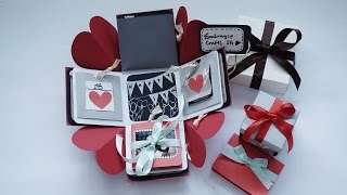 getlinkyoutube.com-Exploding Box Card Full Tutorial Sweetheart Surprise Theme