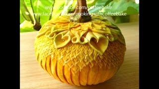 The art of pumpkin  carving 9 patterns,แกะสลักฟักทอง 9 แบบ
