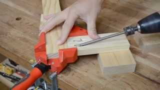 getlinkyoutube.com-Bessey WS3 right angle woodworking clamp