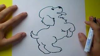 getlinkyoutube.com-Como dibujar un perro paso a paso 4 | How to draw a dog 4
