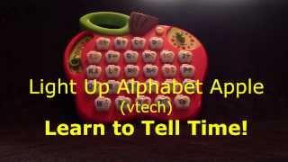 getlinkyoutube.com-Light Up Alphabet Apple (vtech), Learn to Tell Time