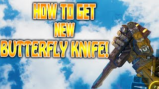"""getlinkyoutube.com-HOW TO GET THE NEW """"BUTTERFLY KNIFE"""" IN BO3! - BLACK OPS 3 BUTTERFLY KNIFE GAMEPLAY!"""