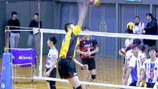 getlinkyoutube.com-春高バレー男子オールスター スパイク練習! Volleyball Spike Boys Japan