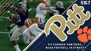 getlinkyoutube.com-SHOCK THE WORLD?! S1 Game 7 vs. #2 Clemson | Pitt Panthers 2016 Dynasty | NCAA Football 14