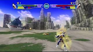 getlinkyoutube.com-Dragon Ball Z Budokai HD Collection: Budokai 3 - SSJ2 Trunks vs SSJ2 Goku【1080p HD】