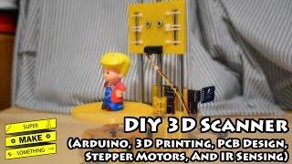 getlinkyoutube.com-DIY 3D Scanner (Arduino, 3D Printing, PCB Design, Stepper Motors, IR Sensing) - Super Make Something