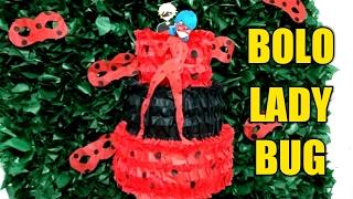 getlinkyoutube.com-Aula 90 - Como fazer bolo fake em TNT Ladybug Miraculous