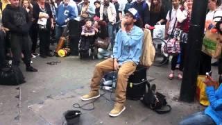 getlinkyoutube.com-London's street DJ making Dubstep WITH HIS VOICE!! AMAZING