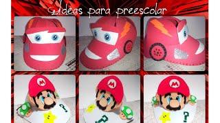 getlinkyoutube.com-Gorra de Cars y visera Mario bros