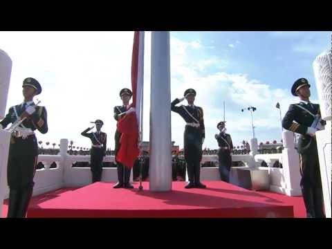 China Military Parade  - National Flag Raising Ceremony  - 720HD