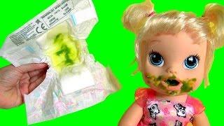 getlinkyoutube.com-Boneca Baby Alive Hora de Comer Bebê Brasileira que Faz Xixi e Caquinha Novelinha em Portugues BR