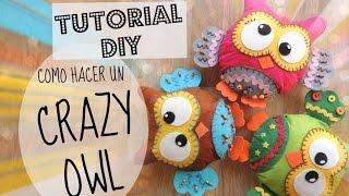 getlinkyoutube.com-TUTORIAL DIY como hacer un BÚHO en fieltro   Felt owl