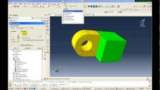 getlinkyoutube.com-Abaqus Tutorial  - Pull Hinge