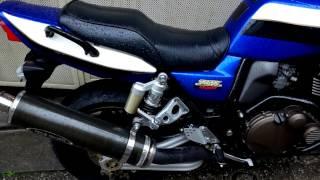 getlinkyoutube.com-Kawasaki ZRX1200R スリップオンマフラー到着 ウェーブディスク装備