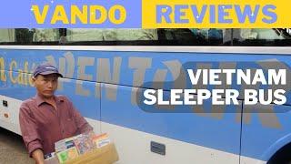 getlinkyoutube.com-REVIEW - Vietnam Sleeper Bus (Open Tour Bus)