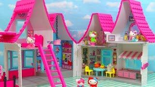getlinkyoutube.com-HELLO KITTY DOLLHOUSE NEW Toys Review | itsplaytime612