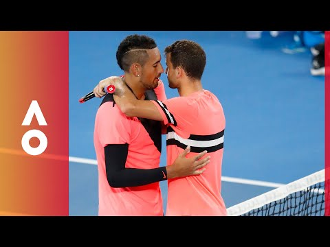 Kyrgios' classy parting exchange with Dimitrov | Australian Open 2018