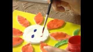 """getlinkyoutube.com-Евгения Евсюкова. Студия """"Мастерилка"""" для деток от 4 до 6 лет. Цветок из ватных дисков."""