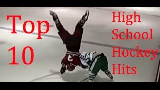 getlinkyoutube.com-Top 10 High School Hockey Hits