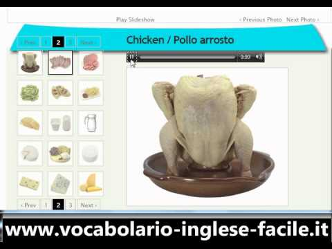 Vocabolario Inglese Facile Inglese Cibo (