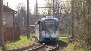 getlinkyoutube.com-Ostrava Tram Ride Route 4 Nová huť jižní brána to Karolina