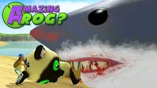 getlinkyoutube.com-Amazing Frog - GIANT SHARK MEET GIANT KITTEN - Part 29