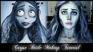 getlinkyoutube.com-Corpse Bride Emily Makeup Tutorial