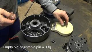 Changing TRA 3 primary clutch weight pins, on the Ski-doo rev mod! LWS ep.1