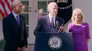 The Vice President Delivers a Statement in the Rose Garden